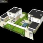 Etude de 2 maisons cubique ArtsCAD créations